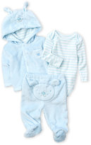 Absorba Newborn/Infant Boys) 3-Piece Faux Fur Hooded Jacket & Footed Pants Set