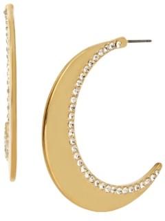 Jessica Simpson Celestial Moon Hoop Earrings