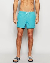 Asos Swim Shorts In Aqua Short Length