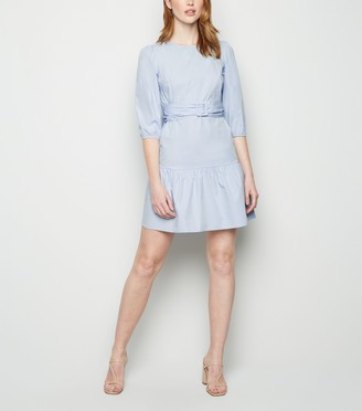 New Look Tall Poplin Belted Mini Dress