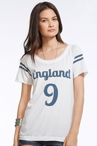 Chaser LA England Open Back Raglan Tee in White