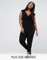 New Look Plus New Look Curve Wrap Tailored Jumpsuit