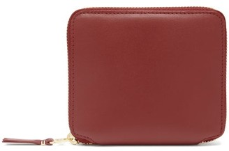 Comme des Garcons Leather Zip Wallet - Womens - Red