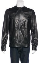 Versace Embellished Leather Jacket