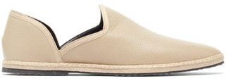 The Row Friulane Grained-leather Slipper Flats - Beige