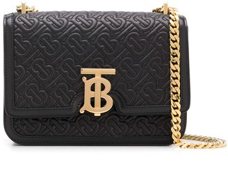 Burberry small TB quilted monogram bag