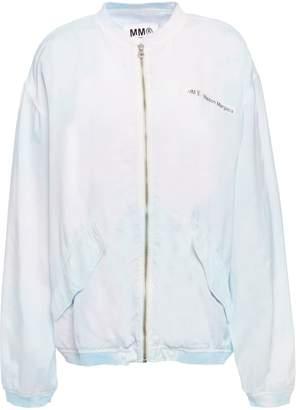 MM6 MAISON MARGIELA Printed Crinkled Shell Bomber Jacket