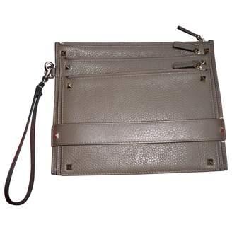 Valentino My Rockstud Khaki Leather Clutch bags