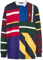 Palace x Polo Ralph Lauren pieced rugby shirt