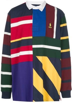Palace x Polo Ralph Lauren pieced rugby shirt