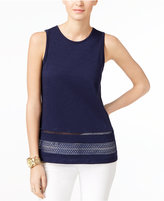 MICHAEL Michael Kors Lace-Trim Top, Only at Macy's