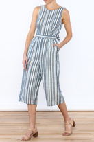 Olive + Oak Olive & Oak Blue Stripe Jumpsuit