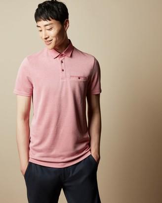 Ted Baker Woven Collar Polo Shirt