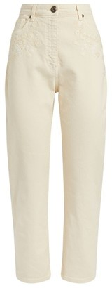Etro Embroidered Straight Jeans