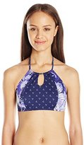 Roxy Women's Perpetual Water Halter Crop Bikini Top