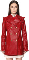 Philosophy Di Lorenzo Serafini Double Breasted Patent Leather Coat