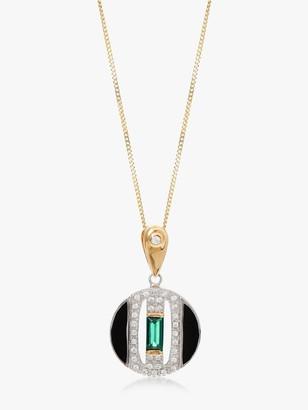 V by Laura Vann Daphne Circle Pendant Necklace, Multi