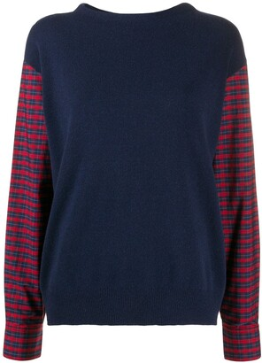 Paul Smith Plaid-Check Sleeve Jumper