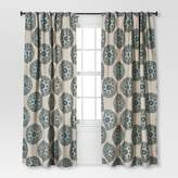 Threshold Twill Woven Medallion Curtain Panel