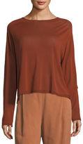 Eileen Fisher Seamless Sleek Funnel-Neck Top, Petite