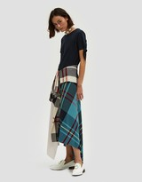 J.W.Anderson Patchwork Button Front Skirt