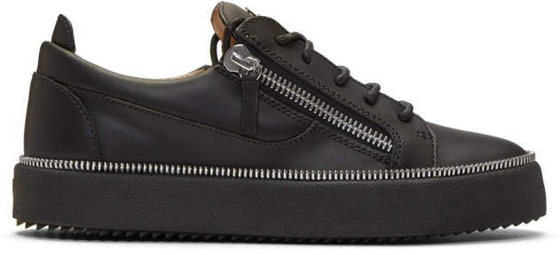 Giuseppe Zanotti Black Zipper May London Sneakers