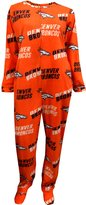 Concept Sports Denver Broncos Logo Ladies Footie Pajama for women