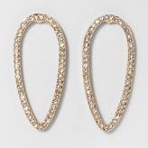 BaubleBar SUGARFIX by Cut-Out Hoop Stud Earrings - Gold