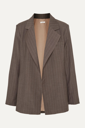 Aaizél aaizel - Net Sustain Pinstriped Wool Blazer - Brown