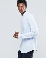 Celio Slim Fit Button Down Shirt With Pocket