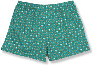 Tie Bar Beers And Pretzels Teal Boxer