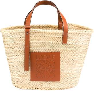 Loewe Raffia Basket Tote Bag