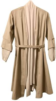 Lungta de Fancy Beige Cotton Coat for Women