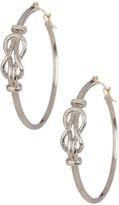 Candela 25mm Sterling Silver & 14K Yellow Gold Love Knot Hoop Earrings