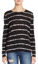 Joie Dorianna Shibori Striped Cashmere Sweater