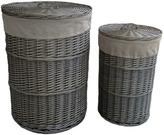 Houseology Antique Wash Round Linen Basket Set Of 2