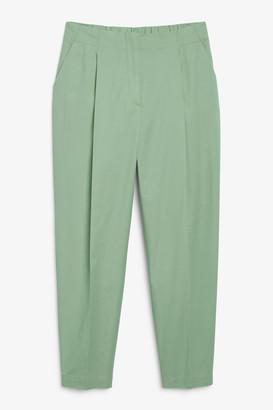Monki High waist cotton trousers