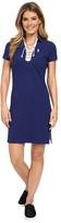 U.S. Polo Assn. Tie Front Pique Dress
