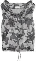 adidas by Stella McCartney Hooded Printed Mesh Vest - Dark gray