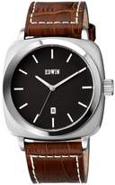 Edwin EW1G018L0014 Men's Stainless Steel Brown Leather Band Dial Watch