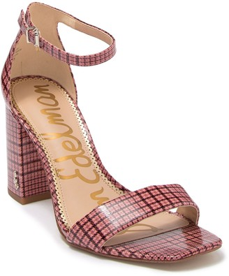 Sam Edelman Daniella Plaid Leather Ankle Strap Pump