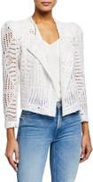 IRO Elgua Open-Front Lace Jacket
