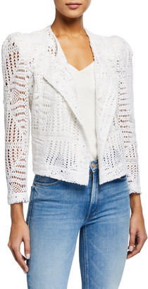 IRO Elgua Open-Front Lace Jacket