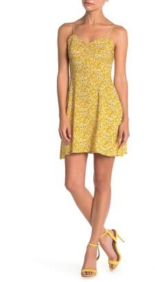 MelloDay Floral Sleeveless Mini Dress