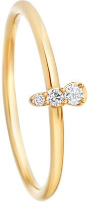 Astley Clarke Interstellar 14ct yellow-gold grey diamond ring, Women's, Size: L, Yellow gold