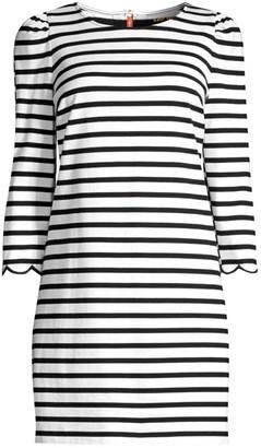 Kate Spade Sailing Striped Scalloped Dress