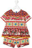 Dolce & Gabbana Mambo print short set - kids - Cotton/Spandex/Elastane - 10 yrs
