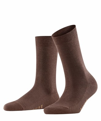 Falke Women's Family Crew Dark Brown Socks EU 35-38 (US Women's 5-7.5)