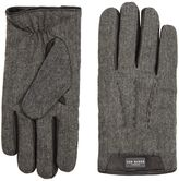 Ted Baker Leather Trim Wool Gloves