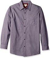 Haggar Men's Long Sleeve Cotton Prints Woven Shirt